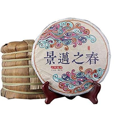357g (0.787LB) vieil arbre feuille Pu-erh thé cru Pu'er cru fait main Qizi Vieux thé Puer Dragon pilier tube bambou erh thé thé chinois thé en bonne santé Puerh vert Bon Bon Sheng