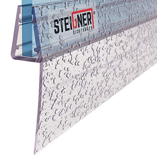 STEIGNER Duschdichtung, 180cm, Glasstärke 6/7/ 8 mm, Gerade PVC Ersatzdichtung für Dusche, UK55