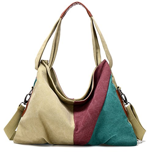 Ladies singola borsa a tracolla,borsa di tela,portatile/messenger bag-porpora verde