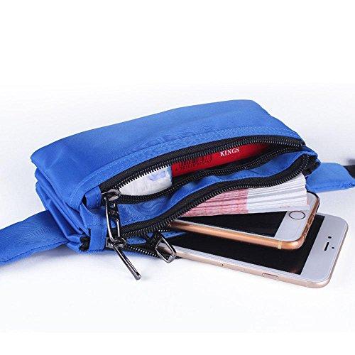 BUSL Wandern Geldbeutel Telefone Sport Herren und Damen persönliche Dokumente Eintritt Paket Außentaschen Reiten Bergsteigen Dokumente laufen Blue