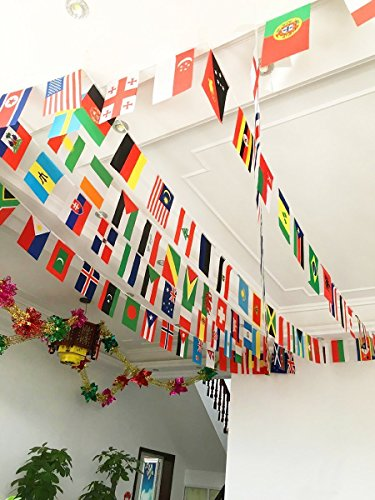Geekbuzz 2018 World Cup 32 Teams Countries Internation String Flag Bunting Banner  World Cup Flag Banners for Bar Sports Party Decorations  32 Countries Flag