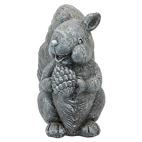 Design Toscano Bandit die Garten-Eichhörnchen Statue, Steingrau