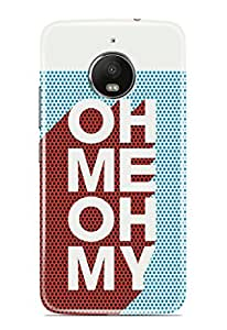 Knotyy DC1117 Printed Back Cover for Moto E4 Plus (Multicolor)