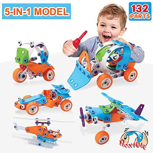 ACTRINIC 132PCS Lernspielzeug Spielzeug für 3 4 5 6 7 8 9 + Jahre alt Jungen und Mädchen Kleinkinder im Alter von 4 5 6 7 8 9 10 + Jahre alt (Jahre Für Spielzeug Jungen Alt 7)