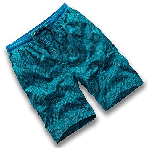 HOOM-Nouveau pantalon de plage d'été occasionnels Shorts hommes Camo coton taille lâche cinq pantalons shorts H
