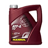MANNOL 1 x 4L ATF-A PSF/Hydraulik- Servo- oel Suffix-A Rot Lenkoel