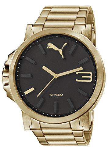 Puma Herren-Armbanduhr XL Ultrasize Analog Quarz Edelstahl beschichtet PU103461006