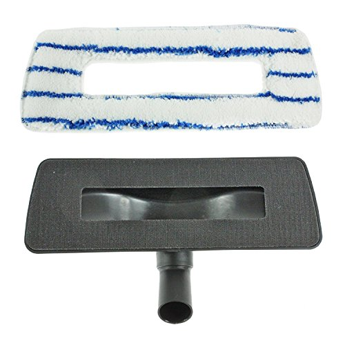 spares2go hartem Boden Bürste Head & waschbar Reinigungstuch für ShopVac Staubsauger (weiß & blau, 35mm)