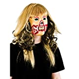 Zombie Girl - Deluxe Foam Mask With Hair