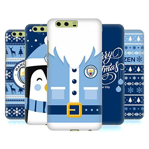 Head Case Designs Officiel Manchester City Man City FC Noël Étui Coque D'Arrière Rigide pour Huawei Téléphones 1