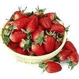 Gresorth 10 Stück Künstliche Lebensechte Groß Erdbeere Deko Gefälschte Früchte Obst Party Festival Dekoration