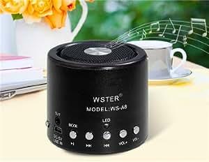 obtenir WS-A8 Mini Portable USB haut-parleur avec FM et lecteur de carte TF (noir)