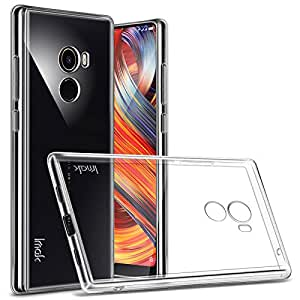 Karirap Smooth Finish Soft Jelly Rubber Back Cover for Mi Mix 2 (Transparent)