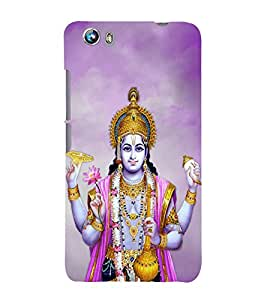 PrintVisa Lord Shri Hari 3D Hard Polycarbonate Designer Back Case Cover for Micromax Canvas Fire 4 A107
