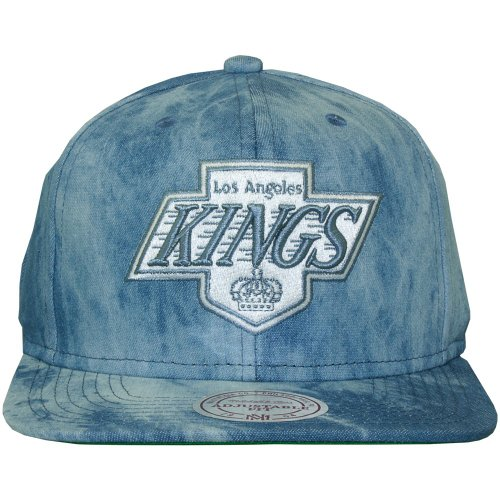 Mitchell & Ness - Casquette Snapback Homme Los Angeles Kings Blue Dyed Denim - Blue