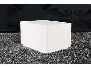 Cube blanc laqué Monobloc