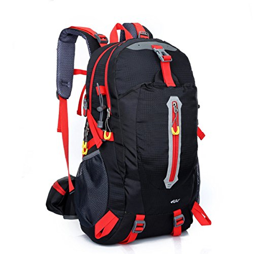 Zaino Da Trekking Zaino Da Escursione Zaino Da Montagna Impermeabile Da Arrampicata Sportiva Borse Da Montagna Sportiva,Orange Black