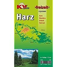 """Harz: 1:50.000, Der """"ganze"""" Harz von Goslar bis Sangerhausen und Osterode bis Quedlinburg, Freizeitkarte incl. Rad- und Wanderwegen (KVplan Harz-Region / http://www.kv-plan.de/Harz.html)"""