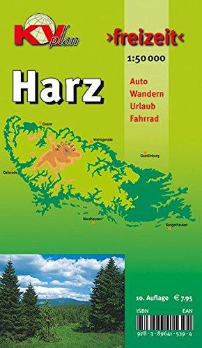 """Der """"ganze"""" Harz von Goslar bis Sangerhausen und Osterode bis Quedlinburg, Freizeitkarte incl. Rad- und Wanderwegen, 1:50.000,"""