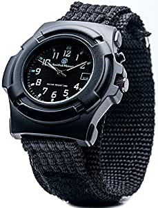 Watch by Smith & Wesson - Rugged Black Wristwatch with Date and Back Glow - Scratch and Water Resistant