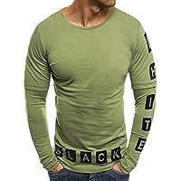 WWricotta Camisetas Hombre Manga Larga Estampado de la Números Patchwork Gimnasio Fitness Polos Slim Fit Streetwear Casual Camisas Casual Sudaderas