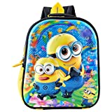#1: Adventurer Kids School bag, Multi Colour with 5D Minion Characters Backpack for Kids (Age- 2- 5 Years) (VA-0040)