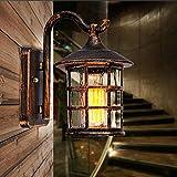Retro- Korridor-Wandlampe des amerikanischen Landhausstils Gartenlampen-Stangencafés im Freien