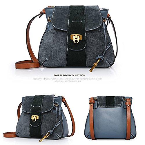 Sheli Nappe Semplice Moda Borsa di Massa Convertible Crossbody Purse Bag with Shoulder Strap Blu