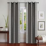Deco Essential Curtain 3 Tone Stripe Bla...