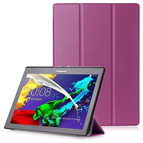 """Lenovo Tab 2 A10 / Tab3 10 Plus / Tab3 10 Business Hülle - Schutzhülle mit Auto Aufwachen / Schlaf Funktion für Lenovo Tab 2 A10-30 / A10-70 / Tab3 10 Plus / Tab3 10 Business 10.1\"""" Tablet, Violett"""