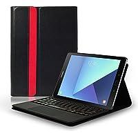 LEICKE Sharon–Funda con teclado separable y Multi Touch de Touchpad integrado, disposición QWERTY inglés para Samsung Galaxy Tab a 24,6cm (9,7pulgadas)