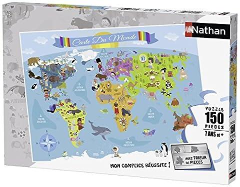Nathan - 86806 - Puzzle - Carte du monde - 150 pièces