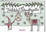 Fröhliche Weihnachtsgrüße: 24 Postkarten zum Ausmalen