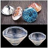 ICYANG Diamantform Schmuckherstellung Schmuck Mold Gießformen Anhänger Ornamente Harz Silikon DIY Handgemachte Halskett,2er Set