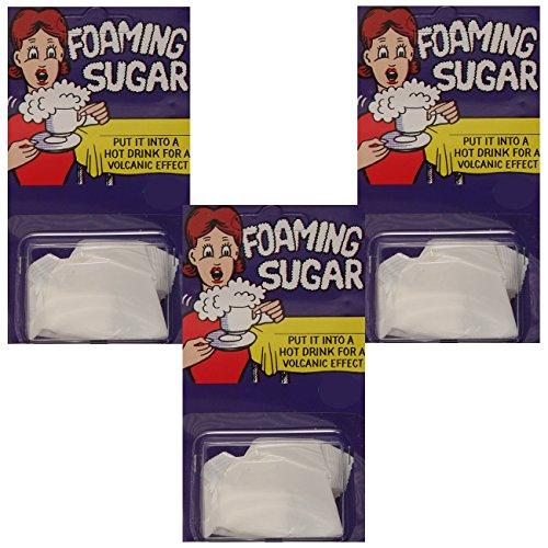 Spassprofi 3 Stück schäumender Zucker Zuckerwürfel Zucker Würfel Würfelzucker Gewürz
