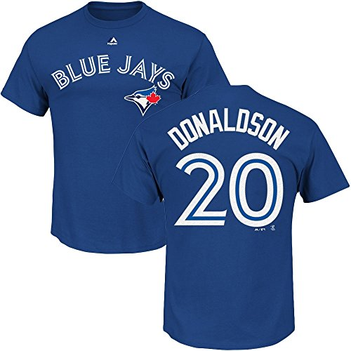 Majestic Josh Donaldson #20 Toronto Blue Jays Player MLB T-Shirt