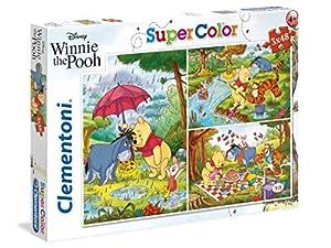clementoni-clementoni-25232-supercolor Puzzle-Winnie The Pooh-3X 48pezzi-Disney, Multicolor, 25232