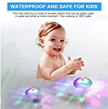 Winkey Toy for 3 4 5 6 7 8 9 +Years Old Kids Girls Boys, 7 Lighting Mode Bath Lights for the Tub Party Waterproof Colorful LED Bath Toys