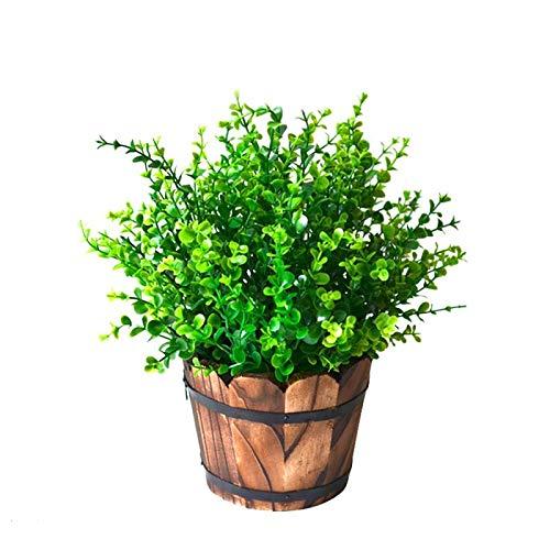 WINOMO 5 pcs Plastique Vert Plante artificielle Simulation Herba Lysimachiae décoratif réalistes plantes Décoration de bureau à domicile
