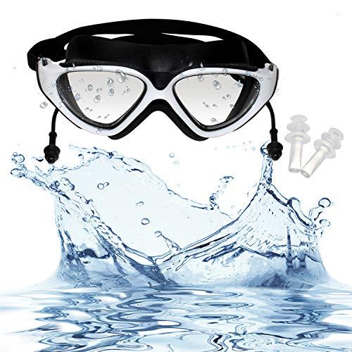 e5c5a487c4 Bezzee-Pro Gafas de Natación con Tapones de Oídos Integrados - Gafas de Nado  con