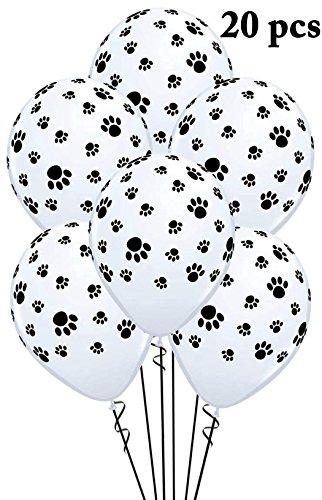 Legendog 20PCS Fiesta de Perros Globo Huellas de Perro Globo Decorativo para Cumpleaños de Mascota