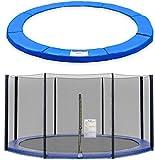 ULTRAPOWER SPORTS Filet de Sécurité et Coussin de Protection de Ressorts pour Trampoline avec Diamètre 244cm 305cm 366cm 397cm...