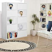 Vogue Bookshelf, White - H 1110 mm x W 800 mm x D 300 mm