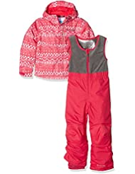 Columbia–Mono y chaqueta de esquí de, Infantil, Buga, Punch Pink Fair Isle, XXS