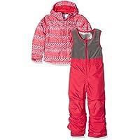 Columbia - Juego de Mono y Chaqueta de esquí, Infantil, Color Punch Pink Fair Isle, tamaño Size 12/18