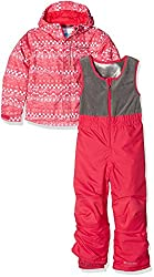 Columbia Kid's Buga Ski Set - Punch Pink Fair Isle, Size - 1218