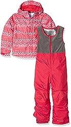 Columbia Kid's Buga Ski Set - Punch Pink Fair Isle, Size - 1218