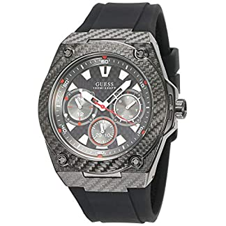 Guess Reloj Cronógrafo para Hombre de Cuarzo con Correa en Silicona W1048G2