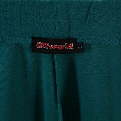 JNTworld Frauen Stretch hohe Taille Ausgestelltes Plain Faltenminirock Grün