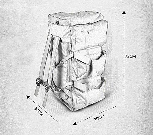 BM Sacchetti di spalla dual all'aperto di grande capacità portatile per uomini e donne baodan breve spalla viaggio borsa viaggio borsa bagagli zaino , three wolf brown
